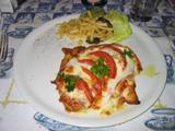 チキンとトマトとモッツァレラチーズのオーブン焼き